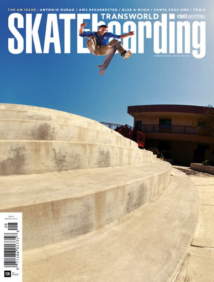 Transworld SKATEboarding Cover - 8/1/2015