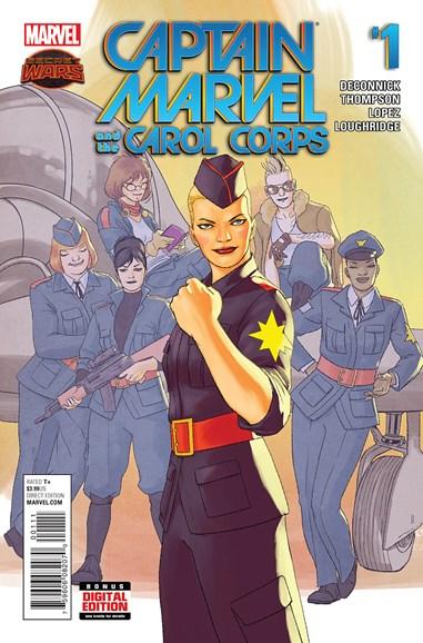 Captain Marvel Cover - 8/1/2015