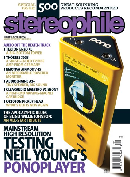 Stereophile Cover - 4/1/2015