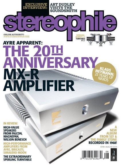 Stereophile Cover - 8/1/2015