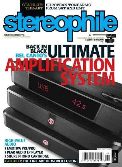 Stereophile Cover - 7/1/2015