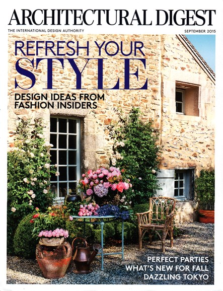 Architectural Digest Cover - 9/1/2015