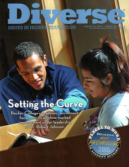 Diverse: Issues In Higher Education Cover - 8/13/2015
