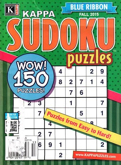 Blue Ribbon Kappa Sudoku Puzzles Cover - 9/1/2015