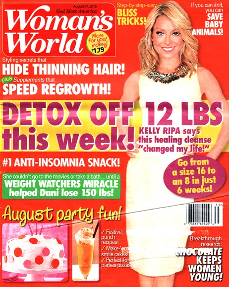 Woman's World Cover - 8/31/2015