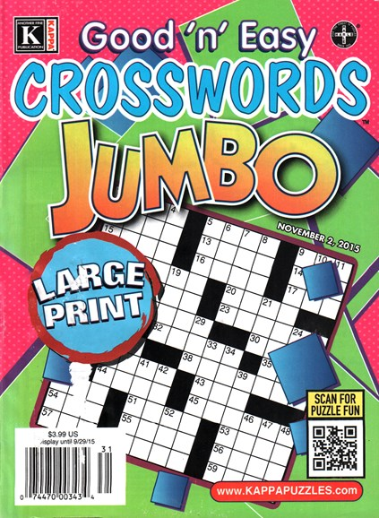 Good N Easy Crosswords Jumbo Cover - 11/2/2015