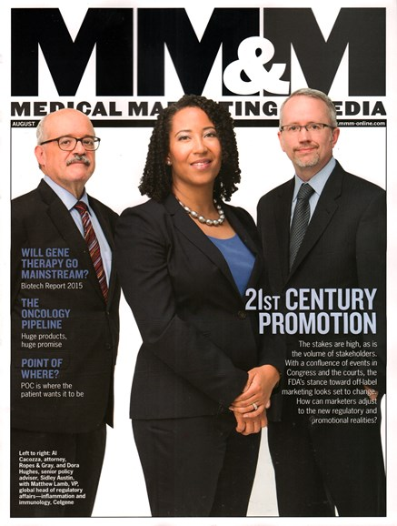 Medical Marketing & Media Cover - 8/1/2015