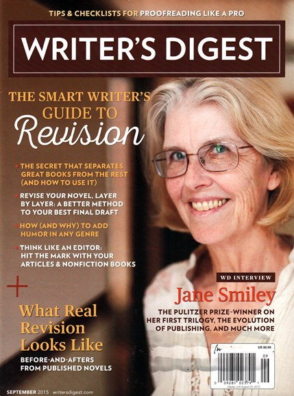 Writer's Digest Cover - 9/1/2015