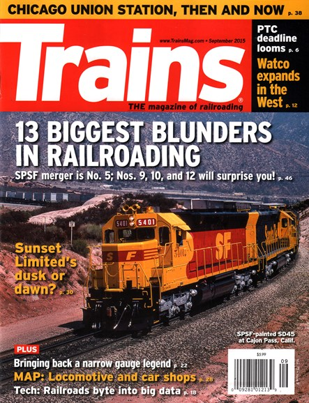 Trains Cover - 9/1/2015