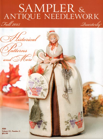 Sampler & Antique Needlework Qtry Magazine Cover - 9/1/2015