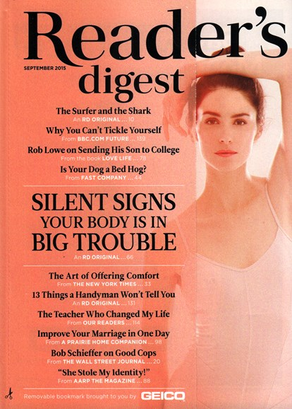Reader's Digest Cover - 9/1/2015