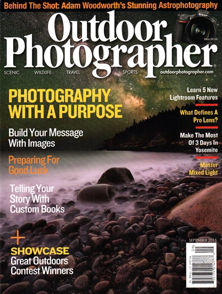 Outdoor Photographer Cover - 9/1/2015