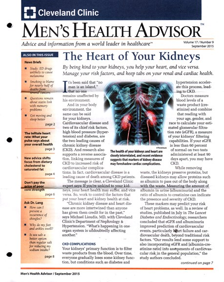 Men's Health Advisor Cover - 9/1/2015