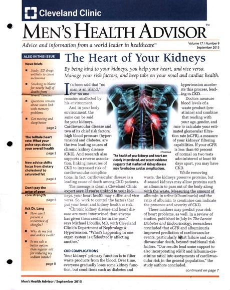 Men's Health Advisor Cover - 9/1/2015