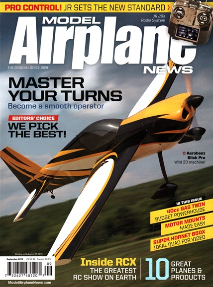 Model Airplane News Cover - 9/1/2015