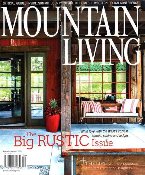 Mountain Living Cover - 9/1/2015