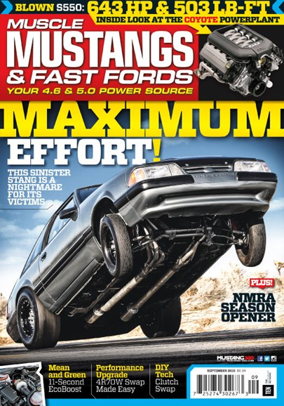 Muscle Mustangs & Fast Fords Cover - 9/1/2015