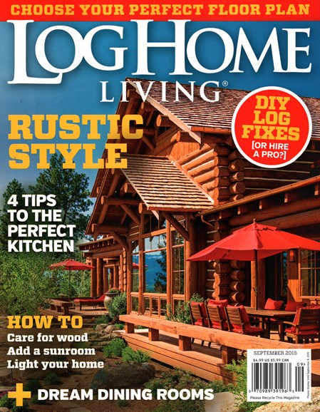 Log Home Living Cover - 9/1/2015