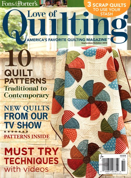 Fons & Porter's Love of Quilting Cover - 9/1/2015