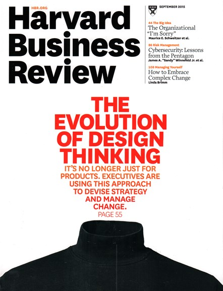 Harvard Business Review Cover - 9/1/2015