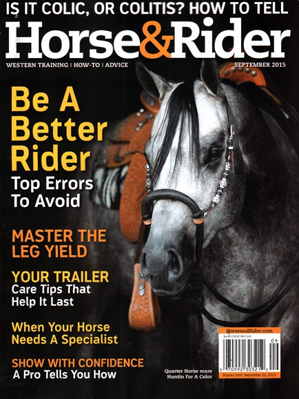 Horse & Rider Cover - 9/1/2015
