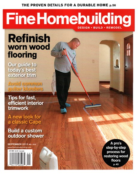 Fine Homebuilding Cover - 9/1/2015