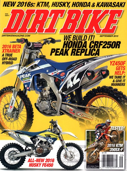 Dirt Bike Cover - 9/1/2015