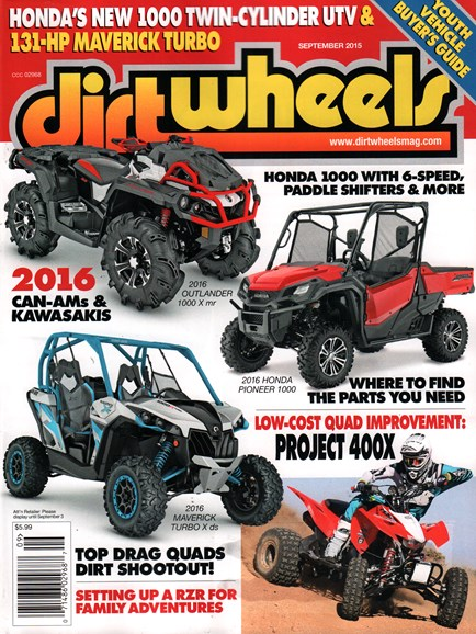 Dirt Wheels Cover - 9/1/2015