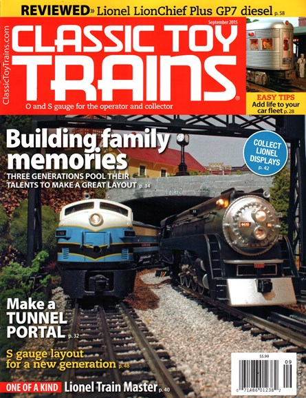 Classic Toy Trains Cover - 9/1/2015