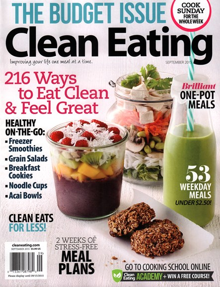 Clean Eating Cover - 9/1/2015