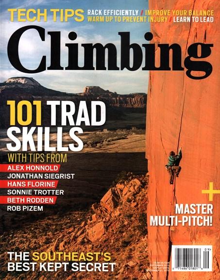 Climbing Magazine Cover - 9/1/2015
