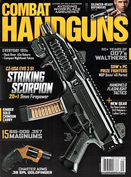 Combat Handguns Cover - 9/1/2015