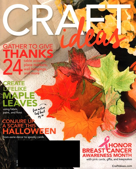 Craft Ideas Cover - 9/1/2015