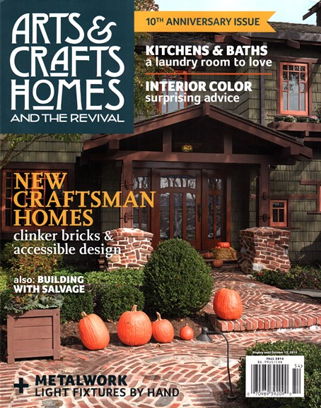 Arts & Crafts Homes Cover - 9/1/2015