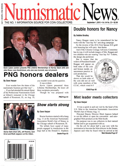 Numismatic News Cover - 9/1/2015