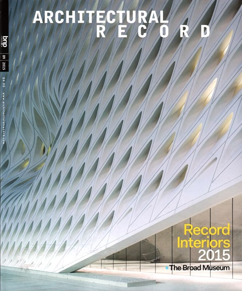Architectural Record Cover - 9/1/2015