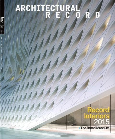 Architectural Record Cover - 9/1/2015