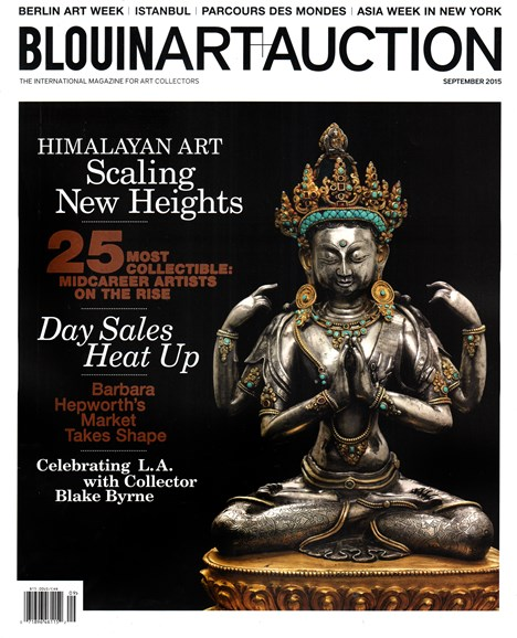 Blouin Art & Auction Cover - 9/1/2015