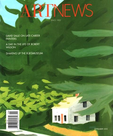 ARTnews Cover - 9/1/2015