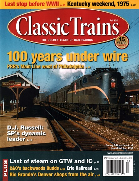 Classic Trains Cover - 9/1/2015