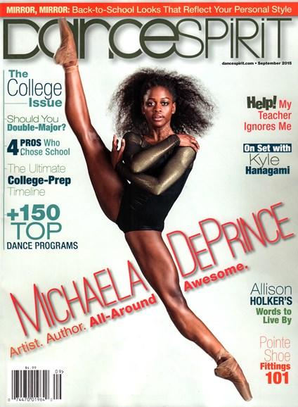 Dance Spirit Cover - 9/1/2015