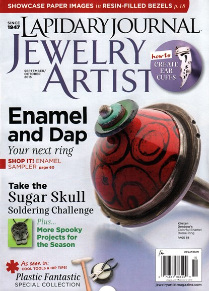 Lapidary Journal Jewelry Artist Cover - 9/1/2015