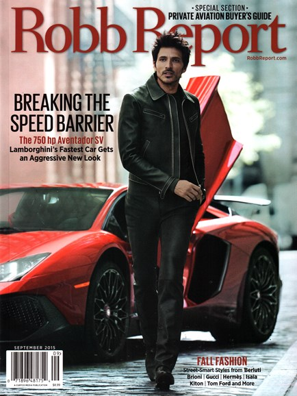 Robb Report Cover - 9/1/2015