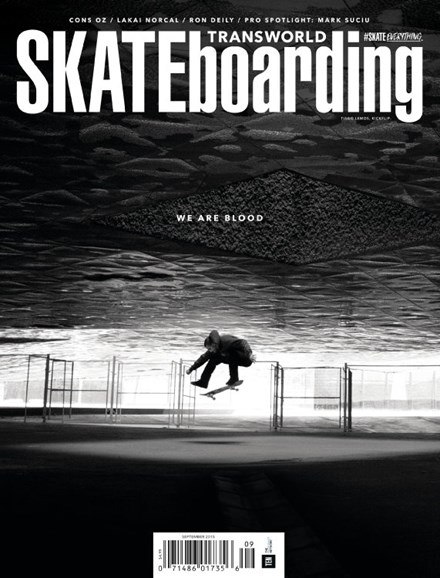Transworld SKATEboarding Cover - 9/1/2015