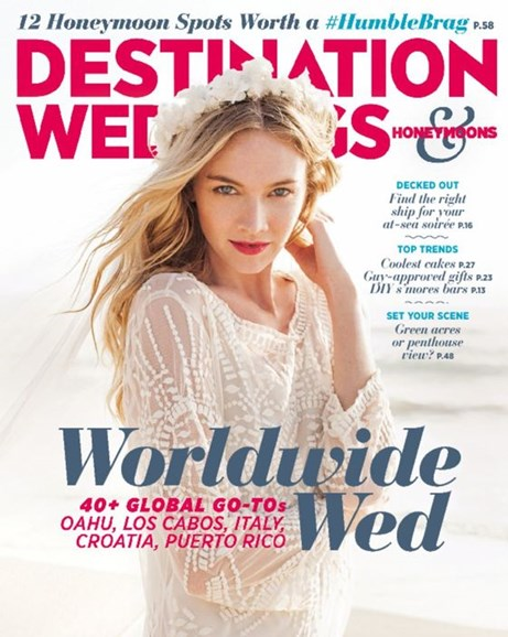 Destination Weddings & Honeymoons Cover - 9/1/2015