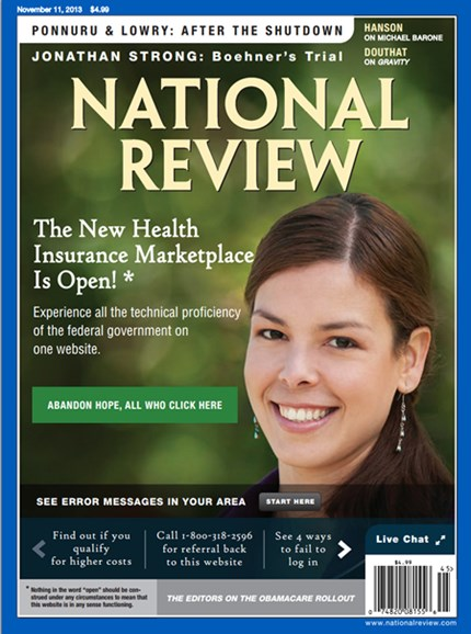 National Review Cover - 11/11/2013