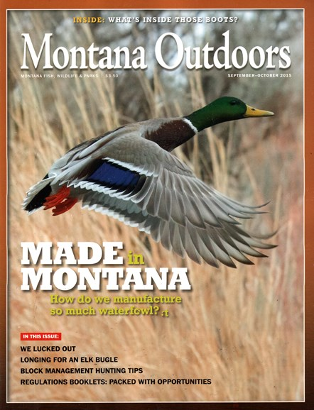 Montana Outdoors Cover - 9/1/2015