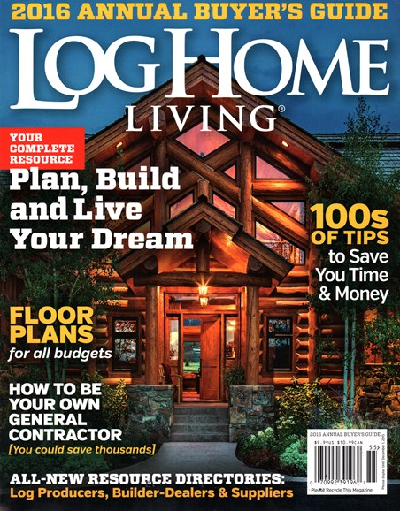 Log Home Living Cover - 10/1/2015