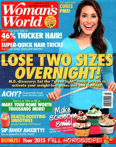 Woman's World Cover - 9/21/2015