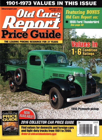Old Cars Report Price Guide Cover - 9/1/2015